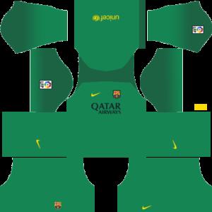 Barcelona Dls Goalkeeper Home kit 2013-2014