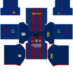 Barcelona Home DLS kit 2015