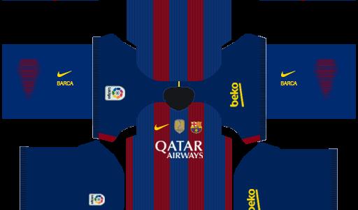 Barcelona Kits 2015 Dream League Soccer - Barcelona DLS ...