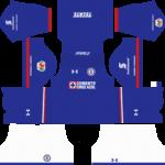 Cruz Azul Kits 2017/2018 Dream League Soccer