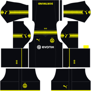 Dortmund Away Kit Dream League Soccer 2017-2018