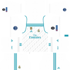 Real Madrid UCL home kits 2017-2018