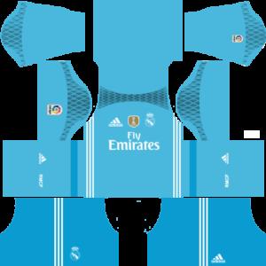 Real Madrid goalkeeper dls home kit 2016-2017
