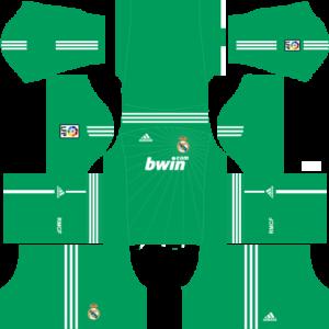 Real madrid goalkeeper dls home kit 2010-2011
