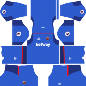 West ham goalkeeper away kit dream league soccer 2017-2018