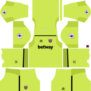 West ham goalkeeper home kit dream league soccer 2017-2018