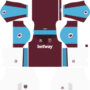 West ham home kit dream league soccer 2017-2018