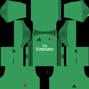 ac milan goalkeeper away kit 2016-2017 dream league soccer