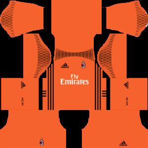 ac milan goalkeeper third kit 2016-2017 dream league soccer