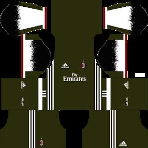 ac milan third kit 2016-2017 dream league soccer