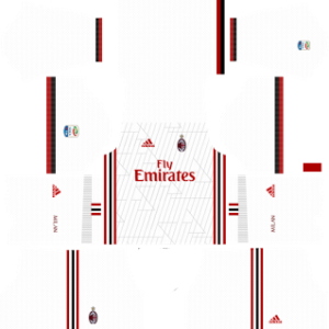 ac milan dls away kit 2017-2018