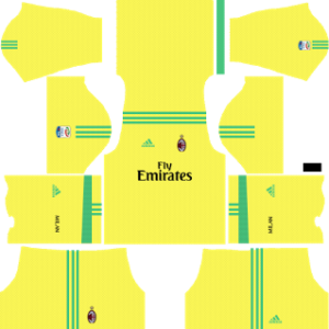 ac milan dls goalkeeper away kit 2017-2018