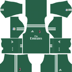 ac milan dls goalkeeper home kit 2017-2018