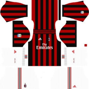 ac milan dls home kit 2017-2018