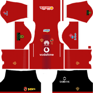 al ahly egypt dls home black pant kit 2017-2018