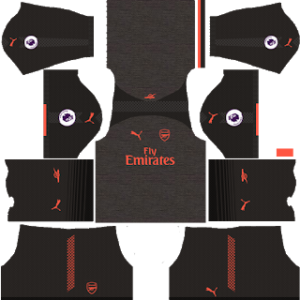 arsenal third kit 2017-2018 dream league soccer