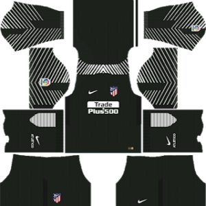 atletico madrid goalkeeper home kit 2017-2018 dream league soccer