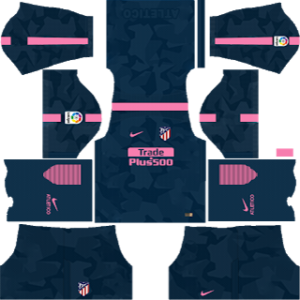 atletico madrid third kit 2017-2018 dream league soccer