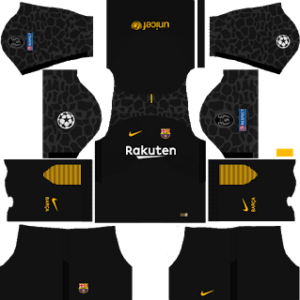 barcelona UCL nike dls goalkeeper away kit 2017-2018