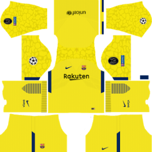 barcelona UCL nike dls goalkeeper yellow away kit 2017-2018