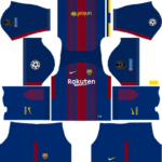 Barcelona UCL Kits 2017/2018 Dream League Soccer