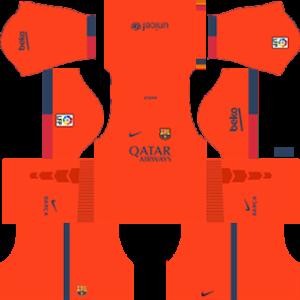 barcelona dls away kit 2014-2015