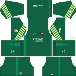 barcelona dls goalkeeper home kit 2015-2016