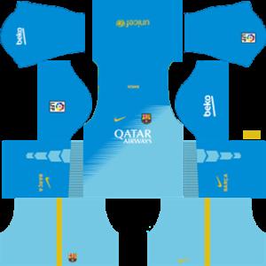 barcelona dls goalkeeper third kit 2014-2015