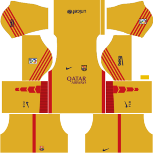 barcelona dls goalkeeper third kit 2015-2016