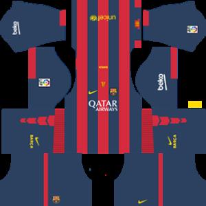barcelona dls home kit 2014-2015