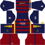 barcelona dls home kit 2015-2016