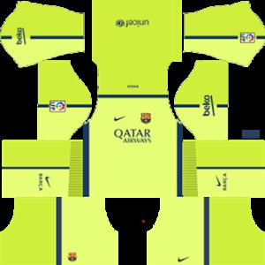 barcelona dls third kit 2014-2015