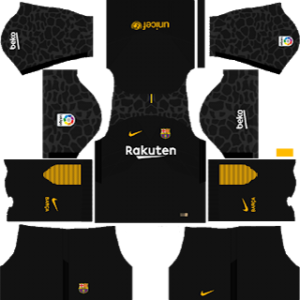 barcelona goalkeeper away kit 2017-2018 dream league soccer