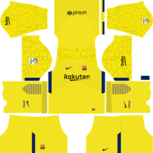barcelona goalkeeper away yellow kit 2017-2018 dream league soccer