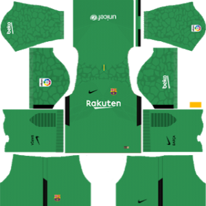 barcelona goalkeeper third kit 2017-2018 dream league soccer