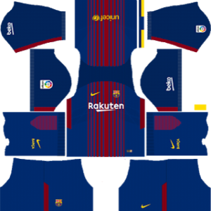 Barcelona Nike Kits 2017/2018 Dream League Soccer