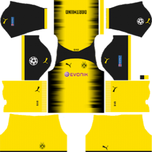 borussia dortmund UCL International jersey kit 2017-2018 dream league soccer