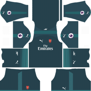 arsenal dls goalkeeper home kit 2017-2018