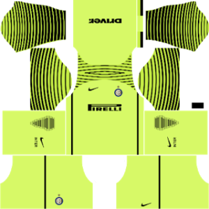 inter milan goalkeeper home kit 2016-2017 dream league soccer