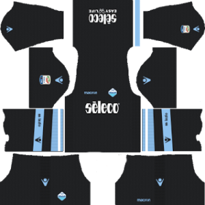 lazio goalkeeper home dls kit 2017-2018