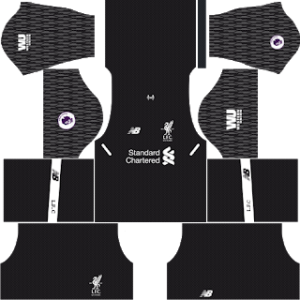 liverpool goalkeeper away kit 2017-2018 dream league soccer