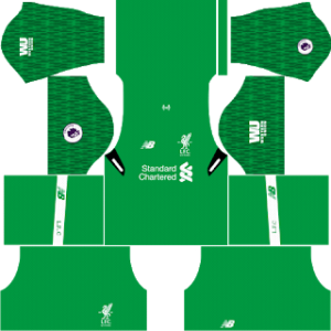 liverpool goalkeeper home kit 2017-2018 dream league soccer
