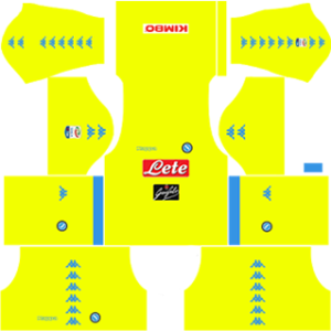 napoli dream league soccer goalkeeper away kit 2016-2017