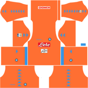 napoli dream league soccer goalkeeper home kit 2016-2017