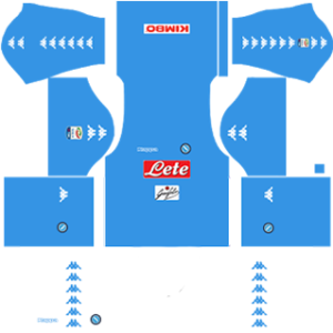 napoli dream league soccer home kit 2016-2017