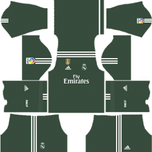 real madrid goalkeeper home kit 2017-2018 dream league soccer
