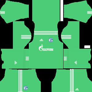 schalke 04 dls goalkeeper home kit 2017-2018