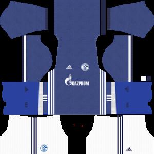 schalke 04 dls home kit 2017-2018