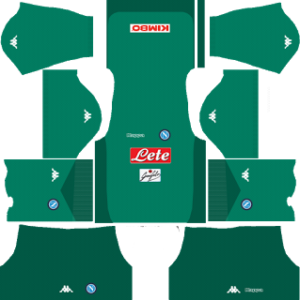 ssc napoli dls goalkeeper away kits 2017-2018