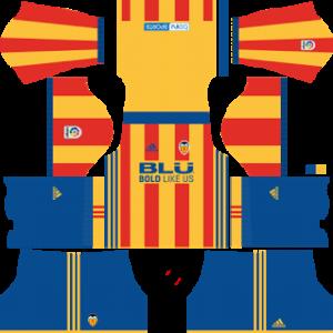 valencia cf dls away kit 2017-2018